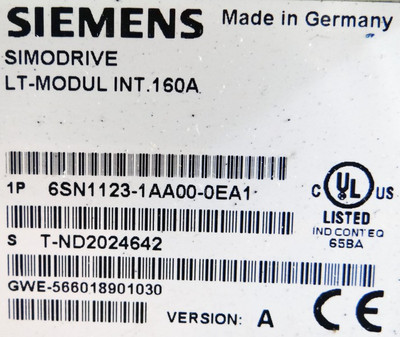 Siemens Simodrive 6SN1123-1AA00-0EA1(A)+ 6SN1118-0AA11-0AA1(C)+ 6SN1114-0AA01-0AA0 – Bild 2