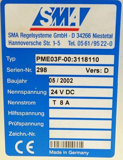 SMA Regelsysteme PMF 03F-00:3118110 Ver. D Messrechner -used- – Bild 3