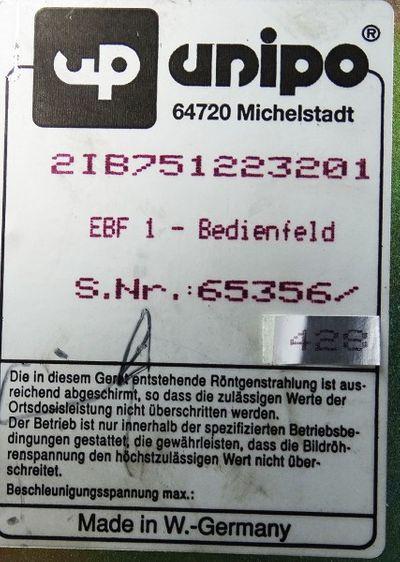Unipo® OP 2IB751223201 EBF 1 Bedienfeld -used- – Bild 3