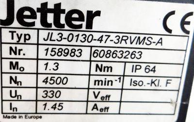 Jetter Servomotor JL3-0130-47-3RVMS-A – Bild 3