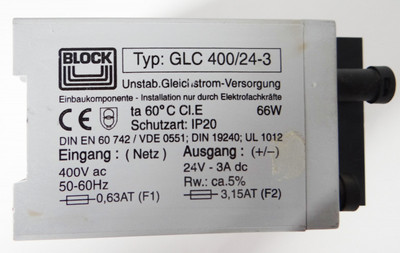 Block GLC 400/24-3 GLC400/24-3 -used- – Bild 3