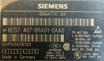 Siemens power supply 6ES7 407-0RA01-0AA0,6ES74070RA010AA0 – Bild 2