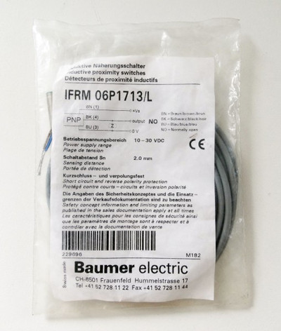 Baumer electric indukt. Sensor IFRM 06P1713/L  - unused - – Bild 1