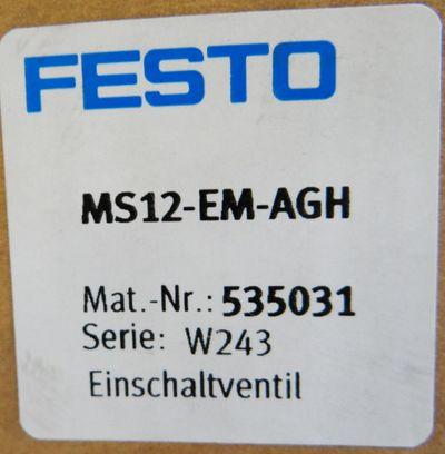 Festo MS12-EM-AGH Mat.-Nr. 535031 Serie: W243 -unbenutzt/OVP – Bild 2