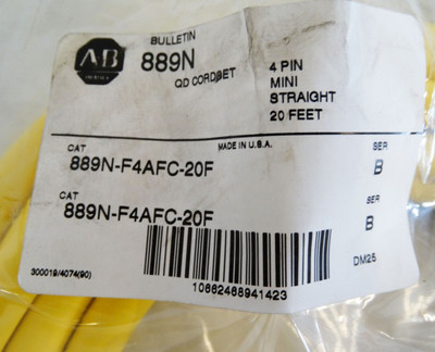 Allen Bradley 889N-F4AFC-20F Mini Patch-Kabel  6m 4 Pin gerade  - unused - – Bild 2