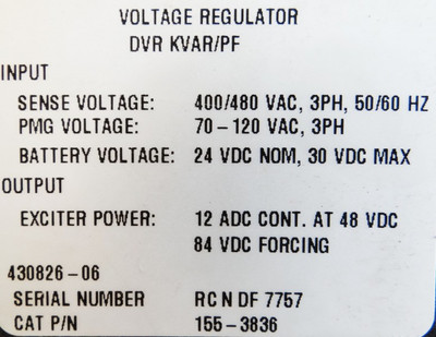 Caterpillar Voltage Regulator DVR, KVAR/PF, Cat P/N 155-3836-unused- – Bild 2