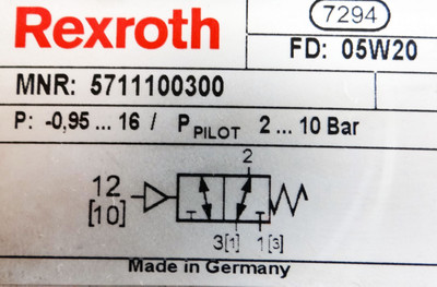 Rexroth Pneumatik-Ventil 5711100300,-unused- – Bild 2
