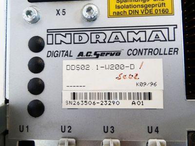 Indramat DDS02.1-W200-D Digital AC-Servo-Controller mit DSM2.1 - used - – Bild 3