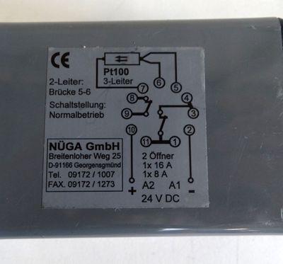 NÜGA elektr. Temperaturbegrenzer Digital 0-300°C EBD 24DC SO - used - – Bild 3