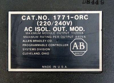 Allen-Bradley 1771-ORC AC isol. Output-Module   - used - – Bild 1