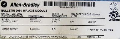 Allen-Bradley Kinetix 6000 2094-BM02 15A Axis Module Firmware : 1.072 -used- – Bild 3