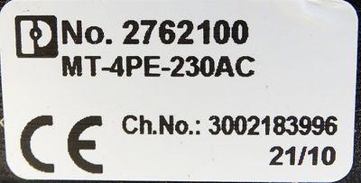 Phoenix Contact MT 4PE-230 AC No. 2762100 -unused- – Bild 3