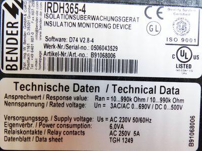 Bender B91068006 IRDH365-4 A-Isometer -unused/OVP- – Bild 2