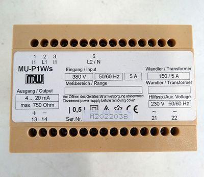 GMW Messumformer  MU-P1W/s  M2022038  - used - – Bild 2