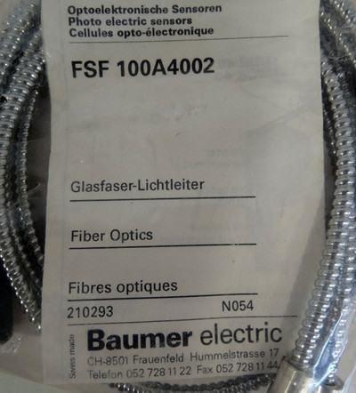 Baumer electric FSF100A4002 Fiber-Optics für Lichtschranke  - unused - in OVP – Bild 2