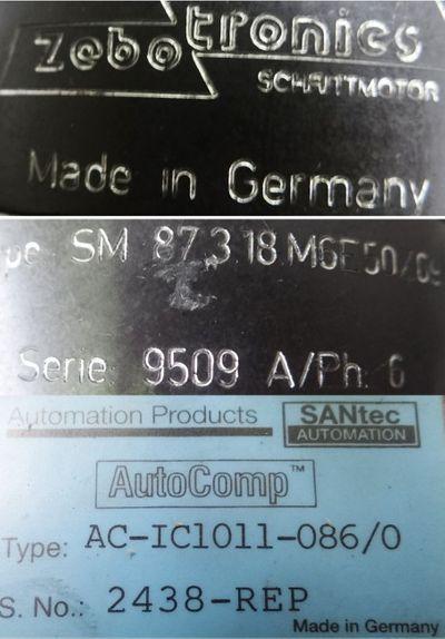 zebotronic schrittmotor SM 873-18M6E50/09+ Getriebe AC-IC1011-086/0 -used- – Bild 3