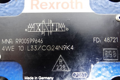 Rexroth 4/3 Wegeventil 4WE 10 L33 CG24N9K4 -unused- – Bild 2