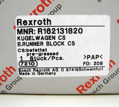 Bosch Rexroth MNR: R162131820 Kugel-Führungswagen CS -unused/OVP- – Bild 3