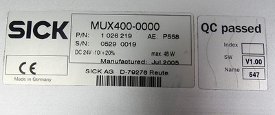 SICK OTC 400 MUX400-0000 -used- – Bild 3