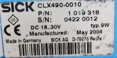 SICK CLX490-0010 1 019 318 Barcodescanner Laser Scanner -used- – Bild 3