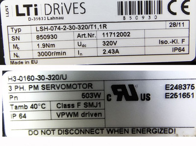 LTi Drives LSH-074-2-30-320/T1.1R Servomotor -unused in OVP- – Bild 3