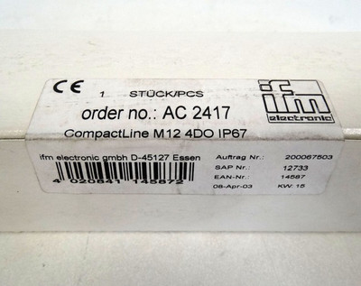IFM Electronic  AC2417  Aktives CompactLine-Modul  - sealed - in OVP – Bild 2