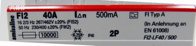 ABB FI2 40A FI Typ A  500mA Schutzschalter -used- – Bild 3
