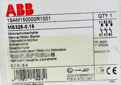 ABB MS325-0.16 1SAM150000R1001 Motorschutzschalter 0,1...0,16A -unused/OVP- – Bild 3