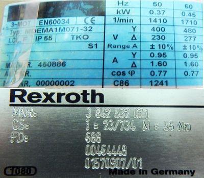 Lenze Getriebemotor EN 60034+Rexroth Getriebe 3842532021 -unused- – Bild 3