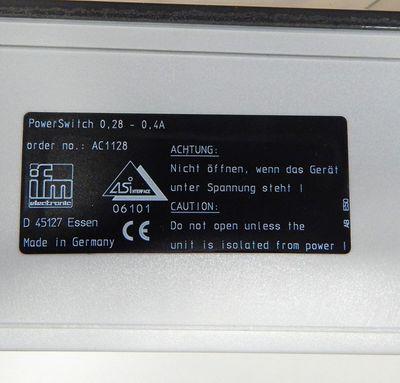 IFM PowerSwitch Motor starter AC1128 0,28-0,4A - used - – Bild 2