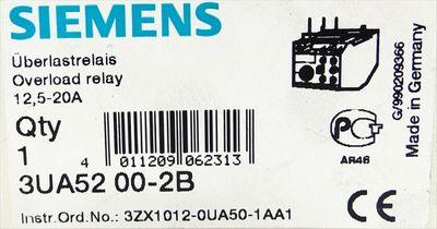 Siemens 3UA52 00-2B 3UA5200-2B Überlastrelais -unused/OVP- – Bild 3