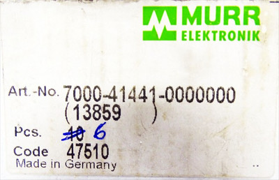 Murr Elektronik 7000-41441-0000000 VE= 6Stk. Ventilsteckeradapter -unused/OVP – Bild 3