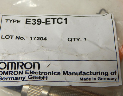 Omron E39-ETC1  No: 17204  - unused - in OVP – Bild 3