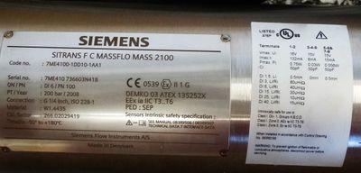 Siemens SITRANS F C MASSFLO MASS 2100 7ME4100-1DD10-1AA1 -unused/OVP- – Bild 2
