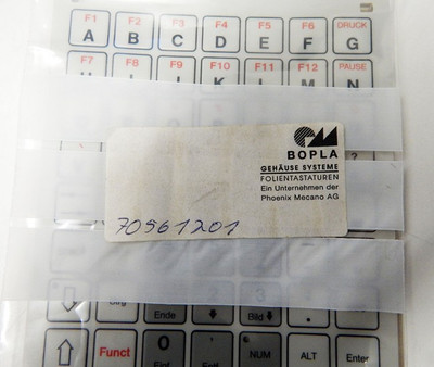 Bopla Folientastatur Ersatz PM 45.056.5143  IBM Standard  - unused - – Bild 3
