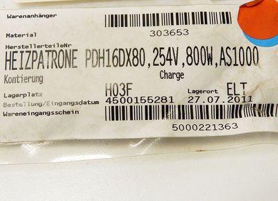 HotSet Heizpatrone  hotrod PDH16DX80 254V 800W  - unused - in OVP – Bild 3