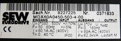 SEW Eurodrive MDX60A0450-503-4-00 Sach-Nr. 8227225 + MCH42A0450-503-4-0T -used- – Bild 2