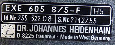Heidenhain EXE 605 S/5-F Id. Nr. 235 322 08 -used- – Bild 3