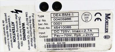 Moeller DE4-BM4-1 Id. 00405986 Frequenzumrichter -used- – Bild 3