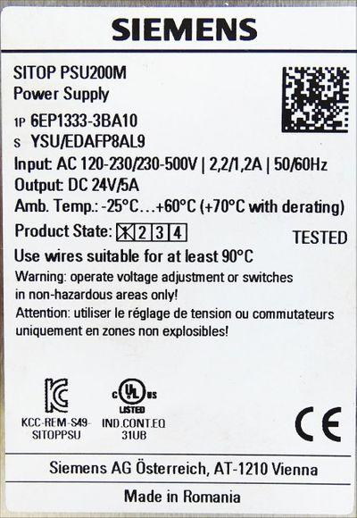 Siemens SITOP PSU200M 6EP1333-3BA10 6EP1333-3BA10 E: 1 -used- – Bild 2