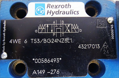 Rexroth Hydraulics 4WE 6 T53/BG24NZ5L1  4WE6T53/BG24NZ5L1 Hydraulic ventil -used- – Bild 3
