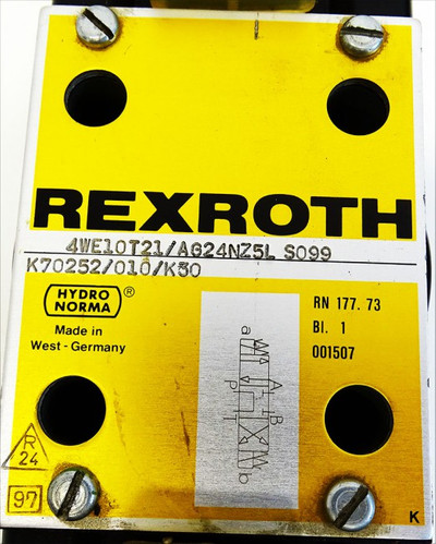 Rexroth Hydronorma 4WE10T21/AG24NZ5L S099 4WE10T21/AG24NZ5LS099 -used- – Bild 3