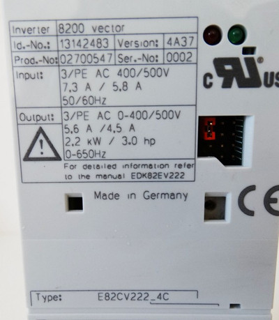 Lenze 8200 vector Type: E82CV222K4C 2,2kW -unused/OVP- – Bild 2
