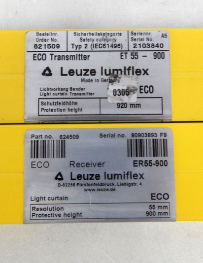 Leuze Lumiflex ECO ER55-900 & ET55-900 Sender & Receiver  900 mm  - used - – Bild 3