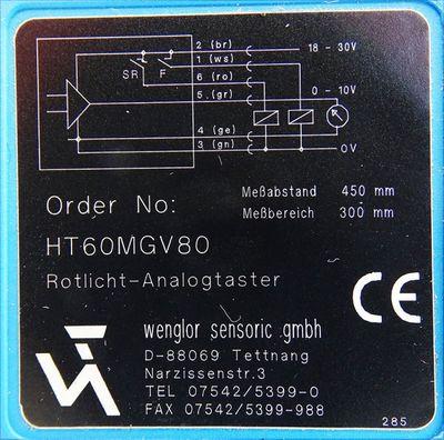 Wenglor Sensoric HT60MGV80  HT60MGV80 Rotlicht Analogtaster -used- – Bild 3