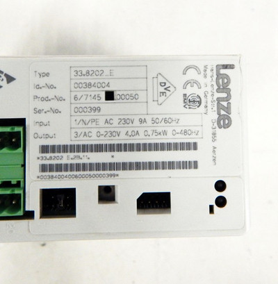 Lenze Frequenzumrichter 33.8202_E 0,75kW  ID:00384004  - used - – Bild 2