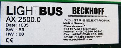 Beckhoff AX2500.0 Lightbus Module -used- – Bild 2