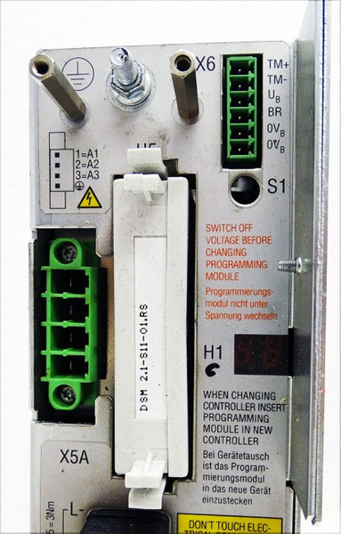 Indramat DDS03.1-W3030-D Digital AC-Servo-Controller + DSM 2.1-S11-01.RS -used- – Bild 3