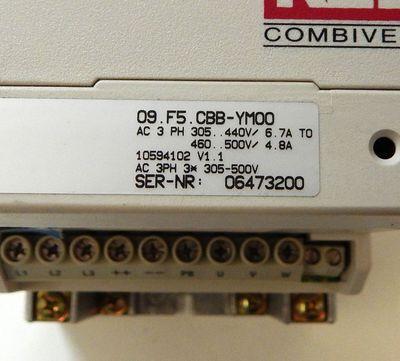 KEB Combivert 09.F5.CBB-YM00 09F5CBB-YM00 2,8 KVA 1,5KW Frequenzumrichter *used* – Bild 3