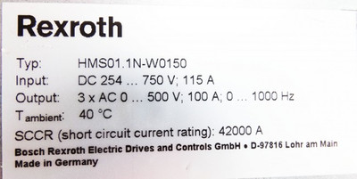 Rexroth HMS01.1N-W0150-A-07-NNNN + CSB01.1C-SE-ENS-EN2-L1-S-NN-FW *used* – Bild 5